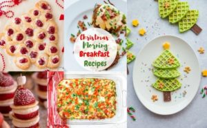 This list christmas breakfast recipes has every type of Holiday brunch recipe you can think of! There is everything from eggnog pancakes to eggs benedict casserole!