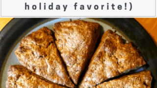 Gingerbread Scones Recipe (that tastes like Christmas!)