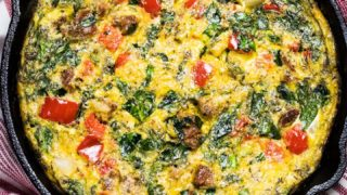 Sausage and Spinach Frittata
