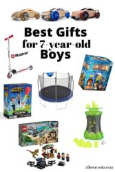 Collage photo of gift ideas for boys