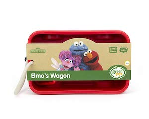 Small red wagon with picture of Elmo on packaging