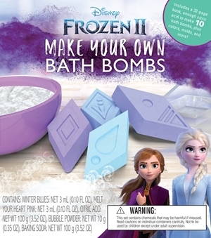 Book about making frozen inspired bath bombs
