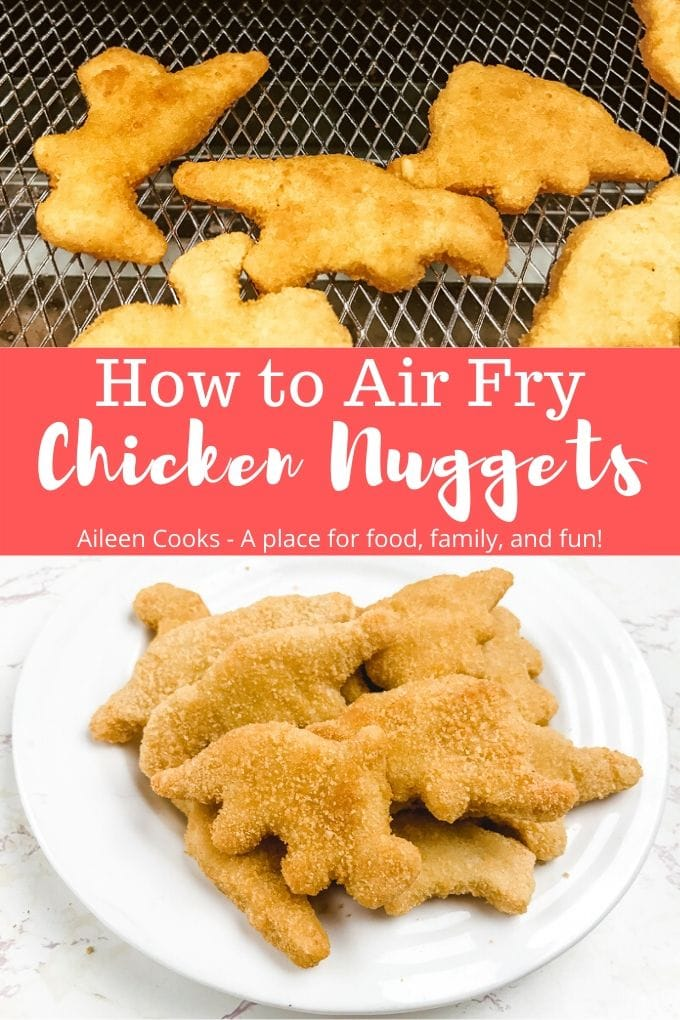 See how easy it is to make perfectly crisp air fryer frozen chicken nuggets! We love this easy method for making our kids' favorite lunch!