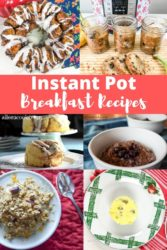 "Collage photo of breakfasts with words ""instant pot breakfast recipes"""