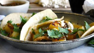 Crock-Pot Chicken Tacos with Caramelized Pineapple