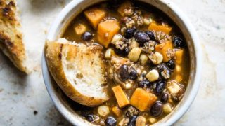 Sweet Potato Chili with Black Beans and Quinoa