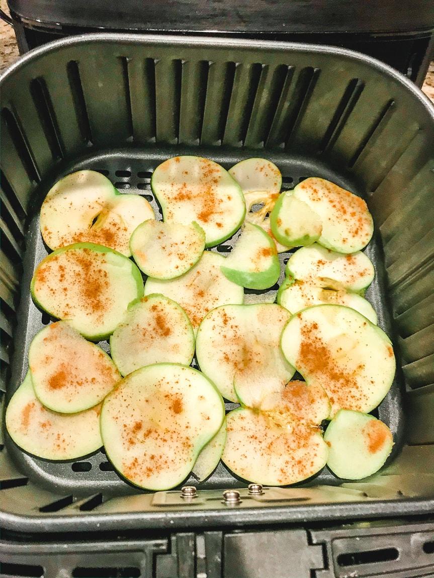 Apples in air fryer.