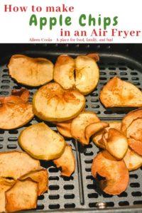 A batch of apple chips in an air fryer
