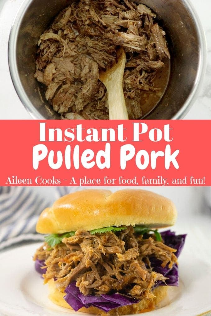 The best instant pot pulled pork you will every make! This amazing recipe gives you a pot full of flavorful pulled pork in under two hours!