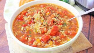 Instant Pot Stuffed Pepper Soup Recipe