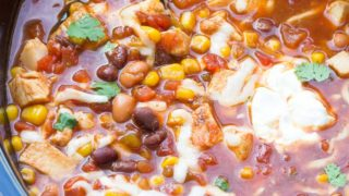 Easy Slow Cooker Chicken Taco Soup