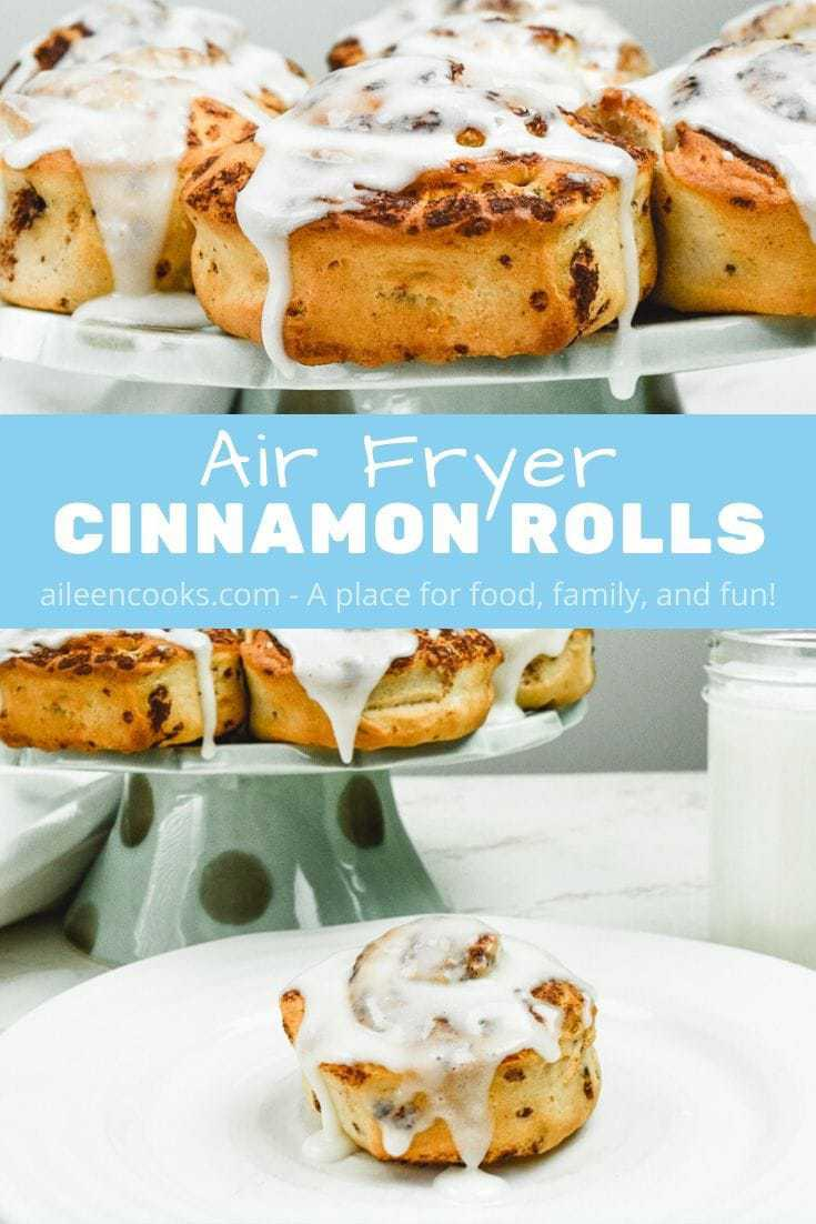 Are you wondering if you can make cinnamon rolls in your air fryer? The answer is yes! We show you exactly how to make air fryer cinnamon rolls in this post!