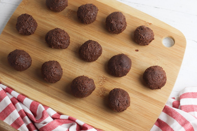 Truffles formed into balls.