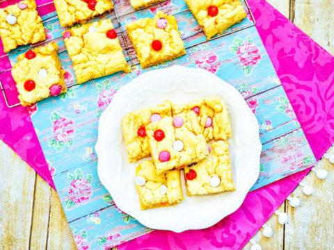 Valentine's Day Cookie Bars Recipe
