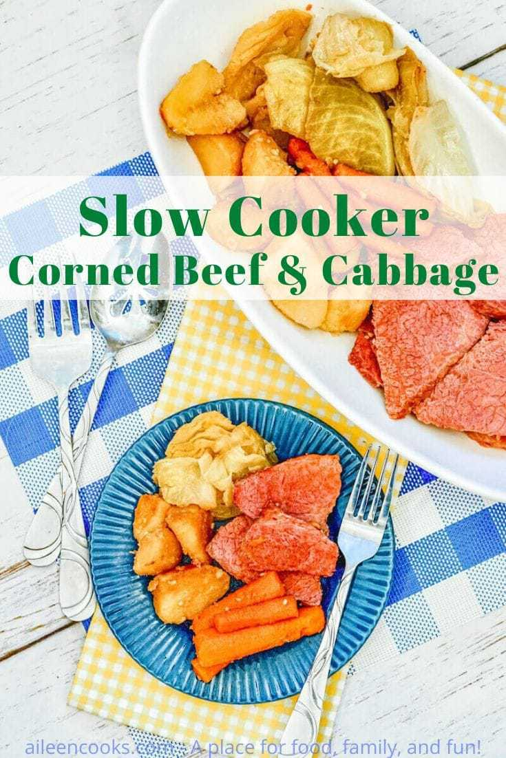 Make this satisfying crockpot corned beef and potatoes for dinner tonight! It's packed with flavorful and tender corned beef, potatoes, carrots, and cabbage, making it a yummy one-pot meal.