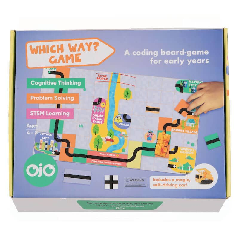 The front of the Which Way? Future Cities board game.