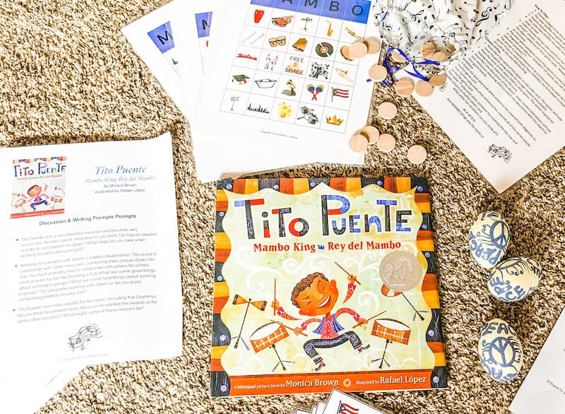 The children's book Tito Puente laid on the floor.