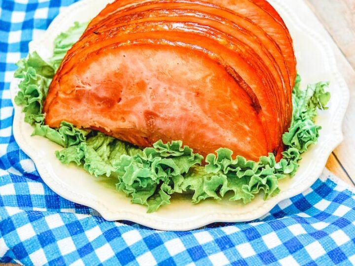 Plated Air Fryer Ham