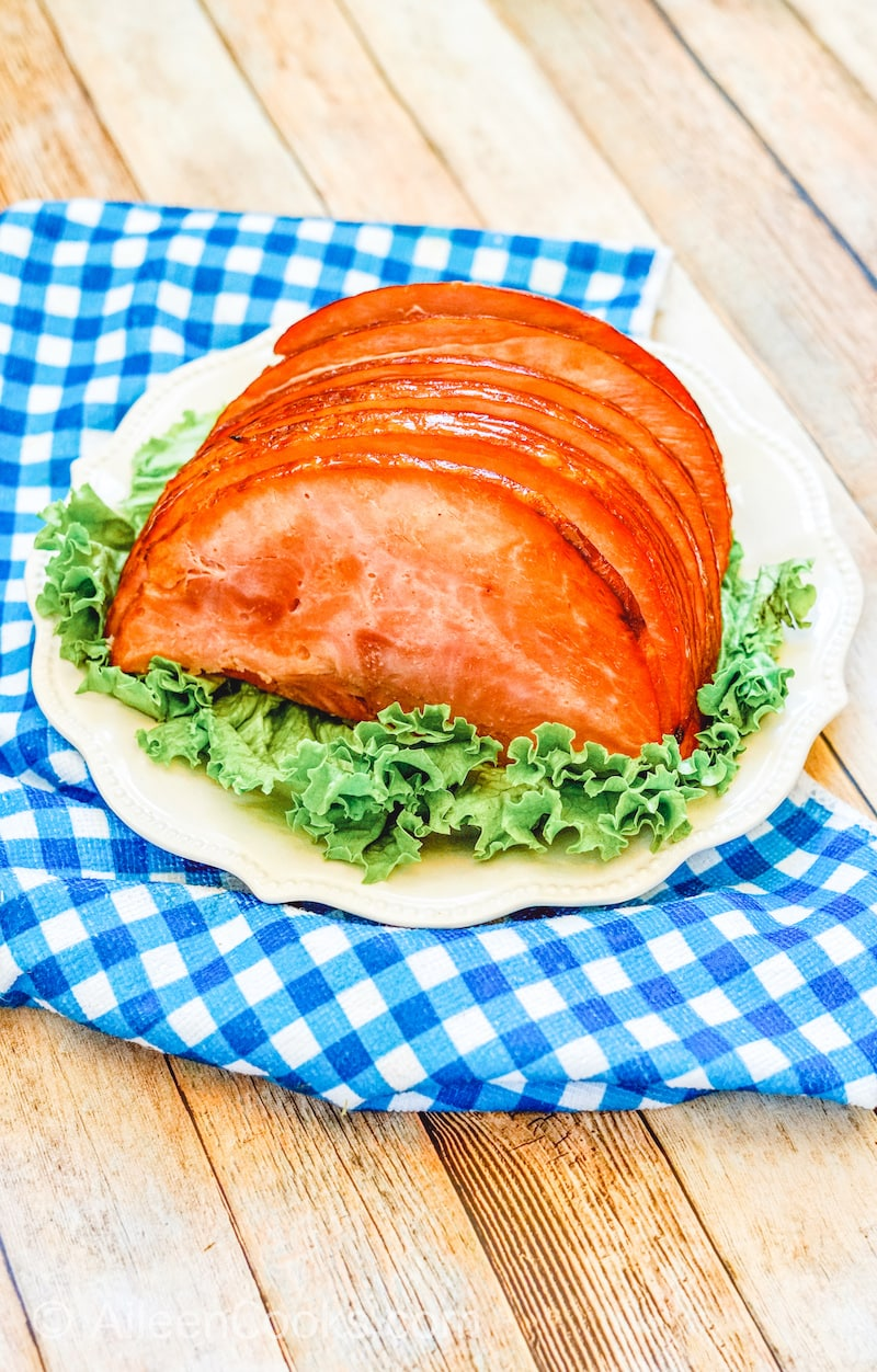 Plated Air Fryer Ham