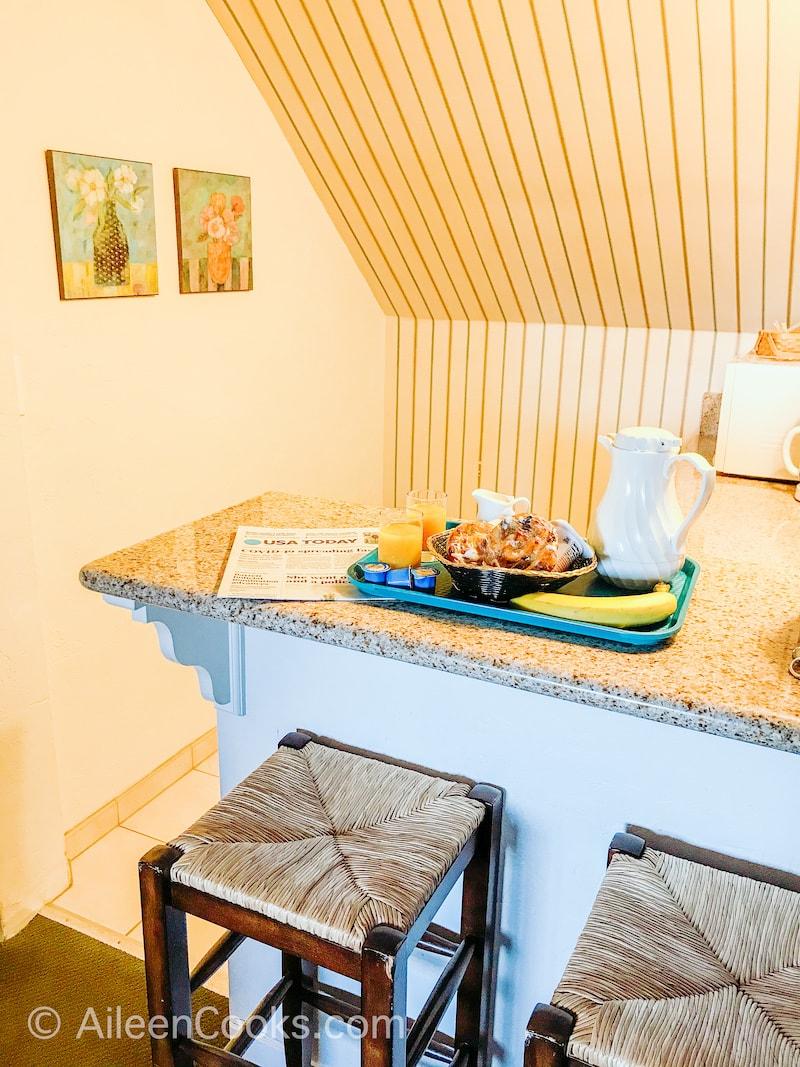 The kitchen nook inside Hofas House Hotel in Carmel.