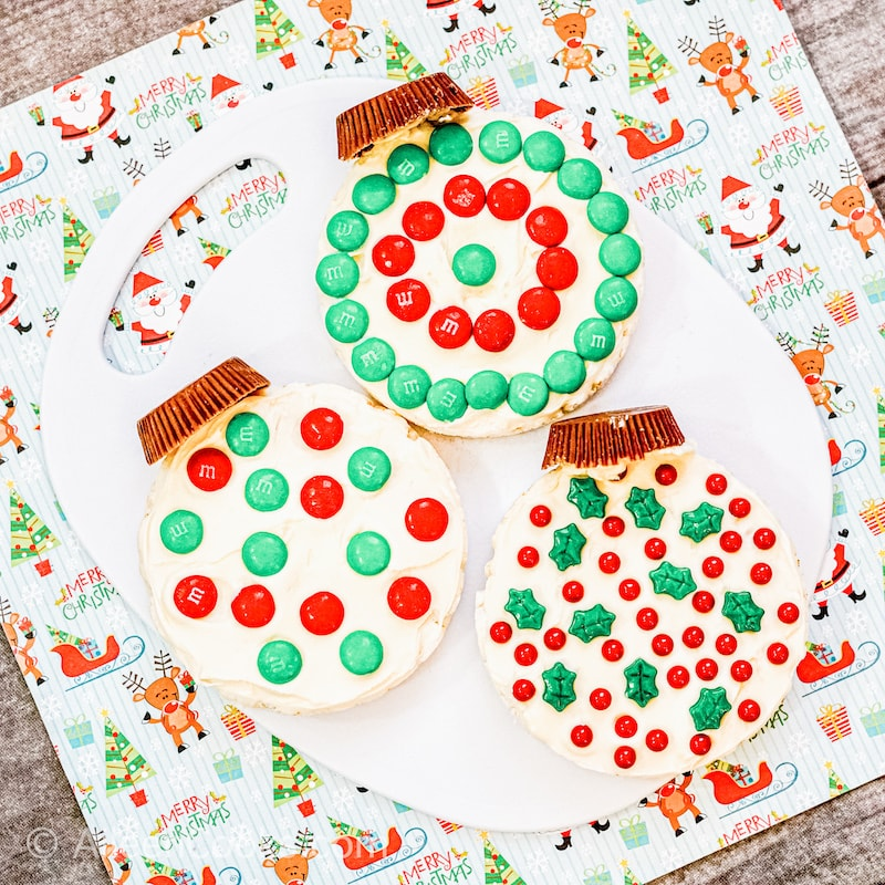 Decorated Rice Cakes With sprinkles