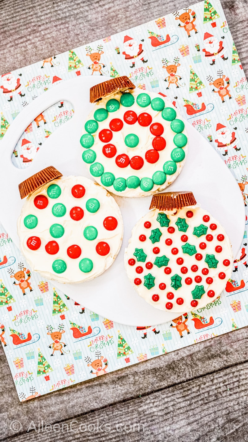 Rice Cake Ornaments Ingredients Including Sprinkles, Candy, and Rice Cakes