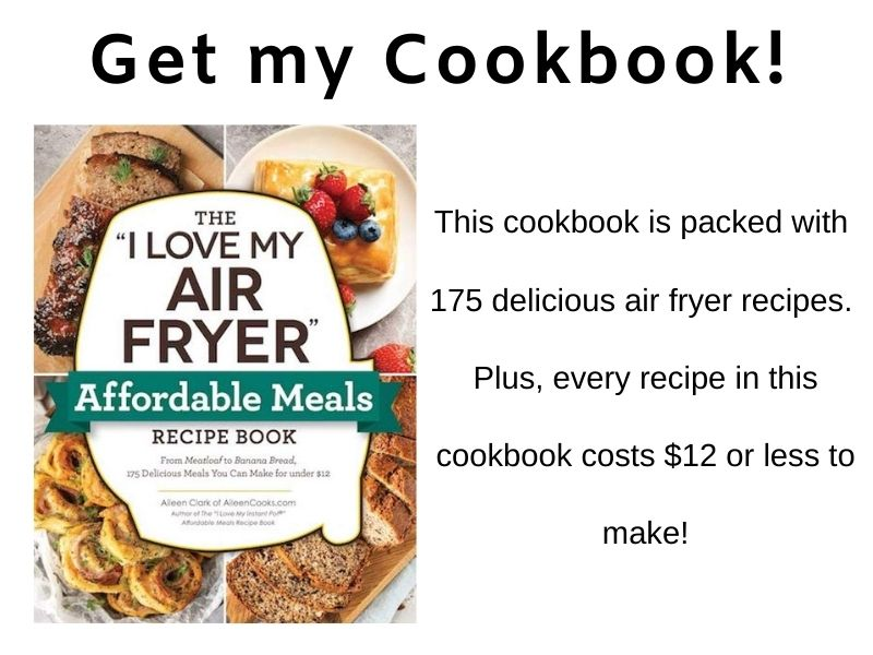 air fryer cookbook promo