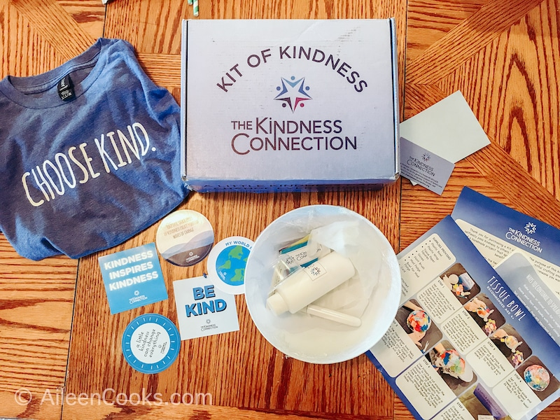 Inside a Kits of Kindness from The Kindness Connection.