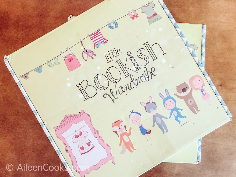 The cover of the Little Bookish Wardrobe box.