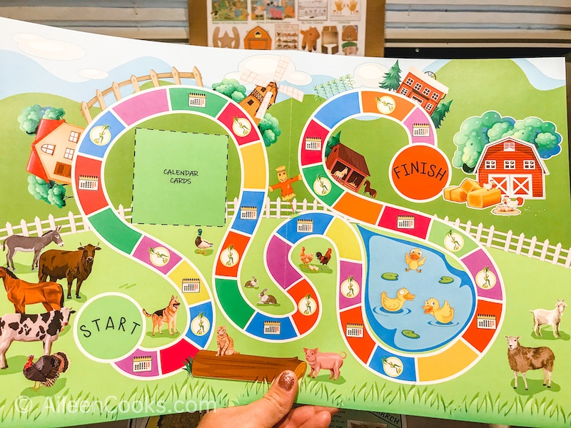 A colorful game board.