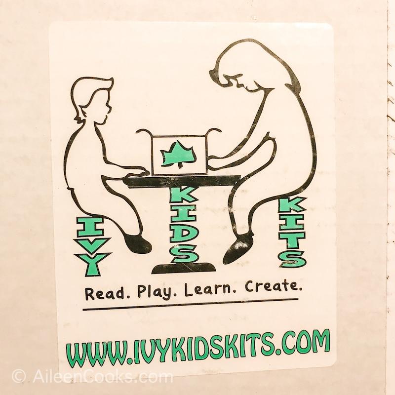 The Ivy Kids Logo as a label on a white box.