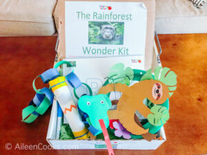 Inside the wiggle worms kit, preschool subscription box.